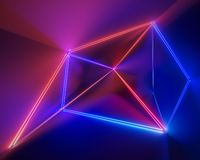 3d render, ultraviolet, infrared, neon lines, laser show, night club interior lights, colorful glowing shapes, abstract. 3d render ofultraviolet, infrared, neon vector illustration