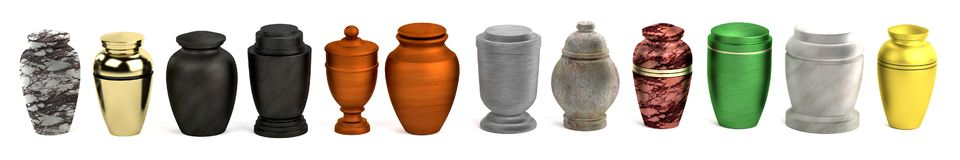 3d render of urns Royalty Free Stock Images