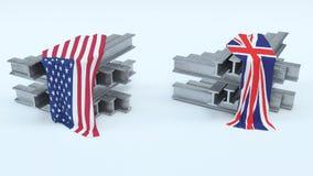 US Steel Import Tarrifs. 3D Render of US Steel Import Tarrifs Stock Images