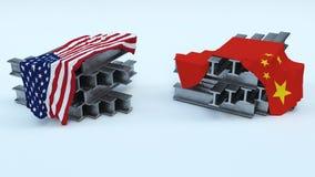 US Steel Import Tarrifs. 3D Render of US Steel Import Tarrifs Stock Image