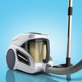 3d render of vacuum cleaner isolated on blue Stock Image