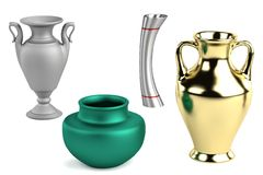 3d render of vases Royalty Free Stock Photo