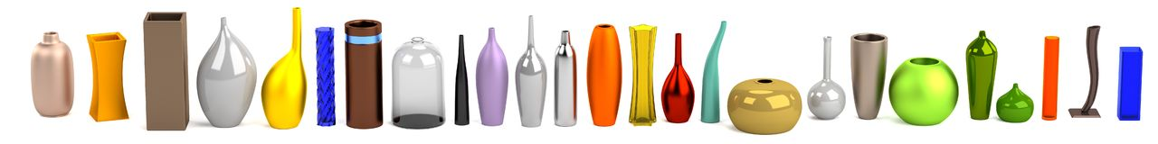 3d render of vases Stock Photo