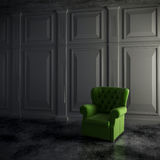 3d render of vintage interior and armchair Royalty Free Stock Images