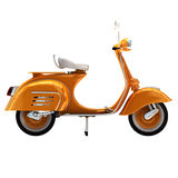 3d render vintage scooter Royalty Free Stock Photo