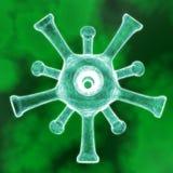3D render virus cells. 3D render virus cells science and medical concept Stock Photos