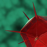 3D render virus cells. 3D render virus cells science and medical concept Royalty Free Stock Photo