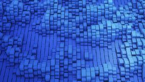 3D render VJ background of the many white squares. 3D render Vj blue background of the many white squares 4k Stock Images