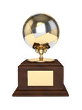3d render of volleyball trophy over white Royalty Free Stock Photo