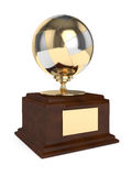 3d render of volleyball trophy over white Stock Images