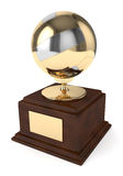 3d render of volleyball trophy over white Royalty Free Stock Photography