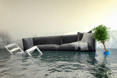 3d render - Water damager Stock Image