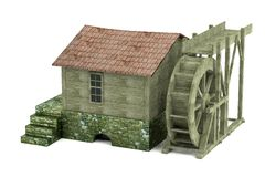 3d render of water mill Stock Photography