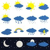 3d render of weather icons Stock Photos