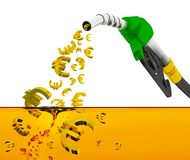 3d render on white background, nozzle pumping gasoline in a tank, of fuel nozzle pouring gasoline over white background, nozzle pu vector illustration