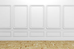 3d render of white classic interior Stock Images