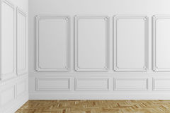 3d render of white classic interior Stock Photography