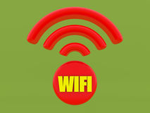 3d render. Wifi sign Royalty Free Stock Photos