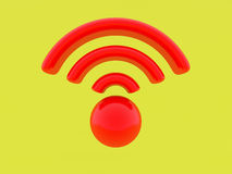 3d render. Wifi sign Royalty Free Stock Image