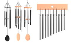 3d render of wind chimes set Royalty Free Stock Image