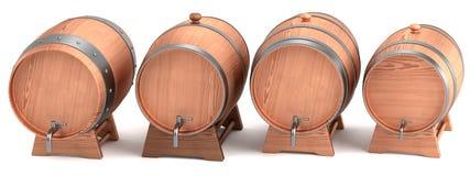 3d render of wine barrels Stock Images