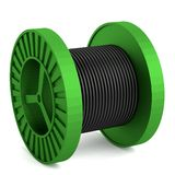 3d render of wire spool Stock Images