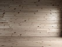3d render of wood planks interior with natural floor Royalty Free Stock Photos