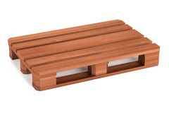 3d render of wooden palette Stock Photo