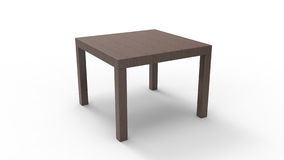 Wooden Side Table Royalty Free Stock Images