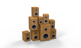 Wooden Speakers Stock Images