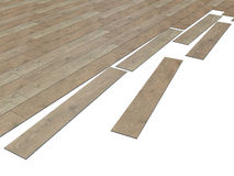 3d render of a wooden tiled floor Stock Image