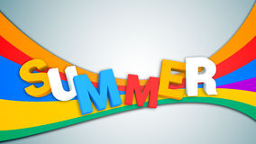 3d render of word summer on colorful background Royalty Free Stock Images