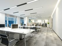 3d render of working room stock illustration