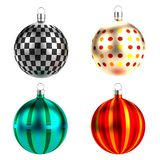 3d render of xmas balls Royalty Free Stock Photography