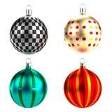 3d render of xmas balls Royalty Free Stock Photography