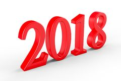 Year 2018, 3D illustration Royalty Free Stock Photography
