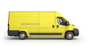 3d render Yellow Delivery Van Icon Royalty Free Stock Image