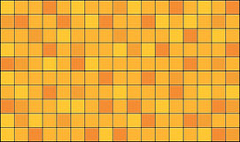 Tiles. 3d render of yellow tiles texture with black gap Stock Images
