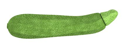 3d render of zucchini Royalty Free Stock Images