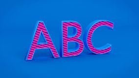 3d rendered abc. Kept in a blue background Stock Photography