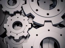 3d rendered, Abstract Cogs Stock Photo