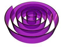3d rendered abstract maze design made in glass Royalty Free Stock Image