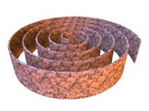 3d rendered abstract maze design made in stone Stock Image