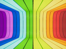 3d rendered, abstract rainbow Stock Photos