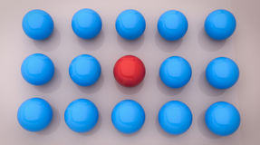 3d rendered balls. 3d rendered colorful balls Stock Image