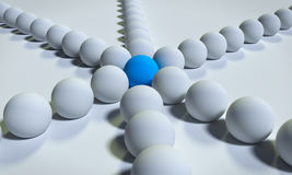 3d rendered balls. On a White background Royalty Free Stock Photography