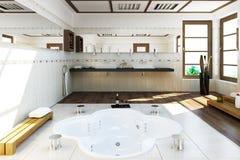 3D rendered bath room stock illustration