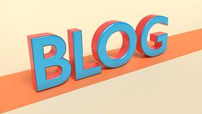 3d rendered blog text. 3d rendered colorful blog text Royalty Free Stock Photography