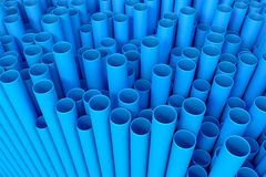 3d rendered blue pipes Stock Images