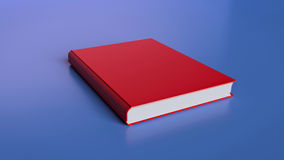 3d rendered book. 3d rendered red book stock illustration